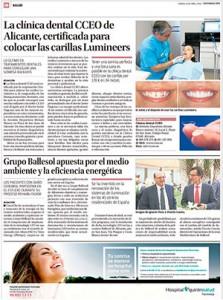 Noticia de Información de Alicante sobre la Clínica Dental CCEO y las carillas Lumineers 2